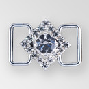 0.75 inch square Crystal Silver connector, ss8.5, ss34
