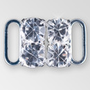 0.5 inch 2x2 Crystal Silver Closure, ss29