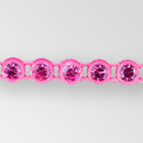 1-row ss8 Fuchsia, Fluorescent Pink Setting, Machine Cut Rhinestone  Plastic Banding