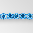 1-row ss8 Aqua Bohemica, Acid Light Blue Setting, Machine Cut Rhinestone  Plastic Banding