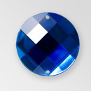 22mm Acrylic Round Sew-On Stone, Sapphire color