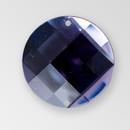 30mm Acrylic Round Sew-On Stone, Deep Tanzanite color