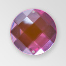 30mm Acrylic Round Sew-On Stone, Light Rose color