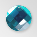 35mm Acrylic Round Sew-On Stone, Aqua Bohemica color