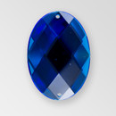 35x25mm Acrylic Oval Sew-On Stone, Sapphire color