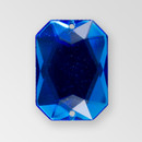 25x18mm Acrylic Octagon Sew-On Stone, Sapphire color