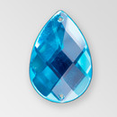 30x20mm Acrylic Pearshape Sew-On Stone, Aqua Bohemica color
