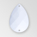 30x20mm Acrylic Pearshape Sew-On Stone, Chalkwhite color