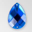 30x20mm Acrylic Pearshape Sew-On Stone, Sapphire color