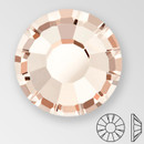 ss30 LIGHT GOLD QUARTZ - PRECIOSA MAXIMA Flat Back, 18 facets, foiled