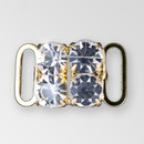 0.5 inch 2x2 Crystal Gold Closure, ss29
