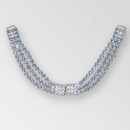 12 inch 3-row ss29 Crystal Gold Draped Rhinestone Closure