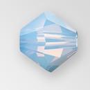 6mm MC Preciosa Bicone (Rondelle) Bead, Light Sapphire Opal AB color