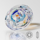 12mm MAXIMA MC Two Hole Button, Crystal AB, unfoiled