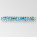 6 inch Fancy Rhinestone Connector, Crystal AB Gold, ss29, 10x6mm Pears