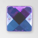 19mm Acrylic Square Sew-On Stone, Amethyst color