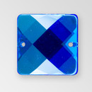 25mm Acrylic Square Sew-On Stone, Sapphire color