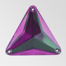 30mm Acrylic Triangle Sew-On Stone, Amethyst color