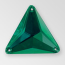 30mm Acrylic Triangle Sew-On Stone, Emerald color