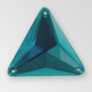 30mm Acrylic Triangle Sew-On Stone, Indicolite color