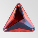 30mm Acrylic Triangle Sew-On Stone, Light Siam color