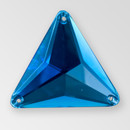 30mm Acrylic Triangle Sew-On Stone, Sapphire color