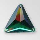 30mm Acrylic Triangle Sew-On Stone, Vitrail Medium color