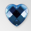 20mm Acrylic Heart Sew-On Stone, Montana color