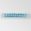 4 inch Crystal Silver 2- row Rhinestone Connector, ss29