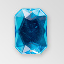 18x13mm Acrylic Octagon Sew-On Stone, Aqua Bohemica color