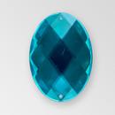 40x30mm Acrylic Oval Sew-On Stone, Aqua Bohemica color