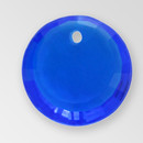 10mm Acrylic Round Pendant, Sapphire color