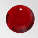 10mm Acrylic Round Pendant, Siam color