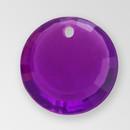 12mm Acrylic Round Pendant, Amethyst color