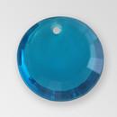 12mm Acrylic Round Pendant, Indicolite color