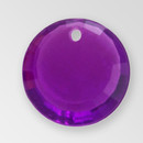 17mm Acrylic Round Pendant, Amethyst color