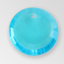 17mm Acrylic Round Pendant, Aquamarine color