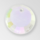 17mm Acrylic Round Pendant, Crystal AB color