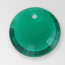 17mm Acrylic Round Pendant, Emerald color