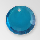 17mm Acrylic Round Pendant, Indicolite color