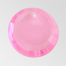 17mm Acrylic Round Pendant, Light Rose color