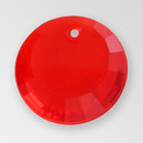 17mm Acrylic Round Pendant, Light Siam color