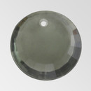 8mm Acrylic Round Pendant, Black Diamond color