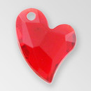 11mm Acrylic Iceberg Heart Pendant, Light Siam color