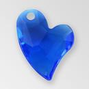 11mm Acrylic Iceberg Heart Pendant, Sapphire color
