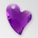 14mm Acrylic Iceberg Heart Pendant, Amethyst color