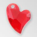 14mm Acrylic Iceberg Heart Pendant, Light Siam color