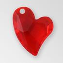 14mm Acrylic Iceberg Heart Pendant, Siam color