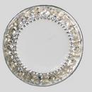 18mm Round shape Rhinestone Button, Crystal White / Silver