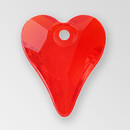 11mm Acrylic Heart Pendant, Light Siam color
